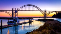 The Yaquina Bay Bridge in Newport, OR