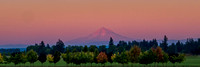 Mt. Hood at then end of a cloudless, hazy day.