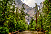 Upper and Lower Yosemite Falls and Yosemite Creek