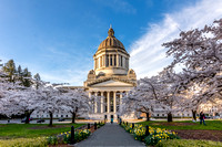 A beautiful Spring day st that State Capitol Building in Olympia
