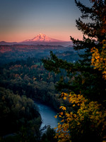 Mount Hood Above the Sandy River Valley