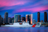 The US Coast Guard Cutter Bertholf in San Diego Bay