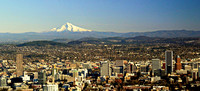 Portland, Looking East Toward Mt. Hood